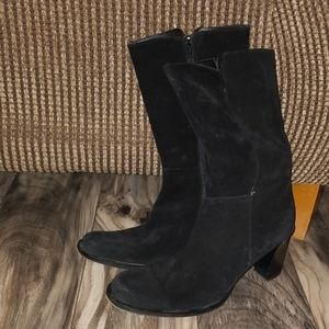 Banana Republic black suede boots size 9.5